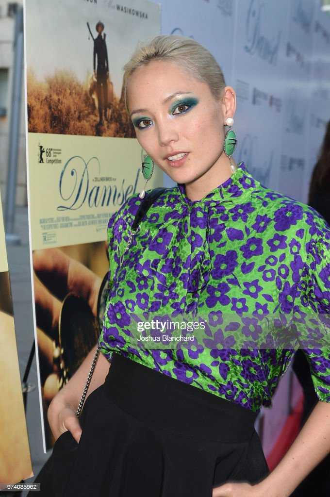 Actress Pom Klementieff attends Los Angeles Premiere of Magnolia's DAMSEL, sponsored by Casa Noble on June 13, 2018 in Los Angeles, California.