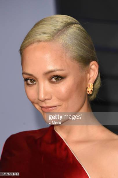 Actress Pom Klementieff attends the 2018 Vanity Fair Oscar Party hosted by Radhika Jones at the Wallis Annenberg Center for the Performing Arts on...