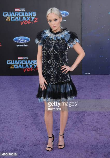 Actress Pom Klementieff attends world premiere of Disney and Marvel's' 'Guardians Of The Galaxy 2' at Dolby Theatre on April 19 2017 in Hollywood...