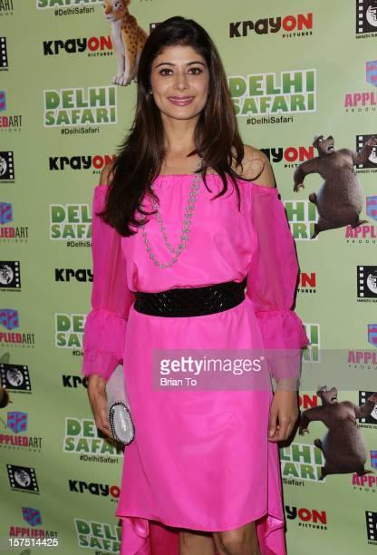 Actress Pooja Batra attends 'Delhi Safari' Los Angeles premiere at Pacific Theatre at The Grove on December 3 2012 in Los Angeles California