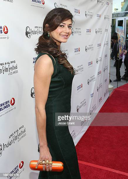 Actress Pooja Batra attends the Indian Film Festival of Los Angeles Opening Night Gala for Gangs Of Wasseypur at ArcLight Cinemas on April 9 2013 in...