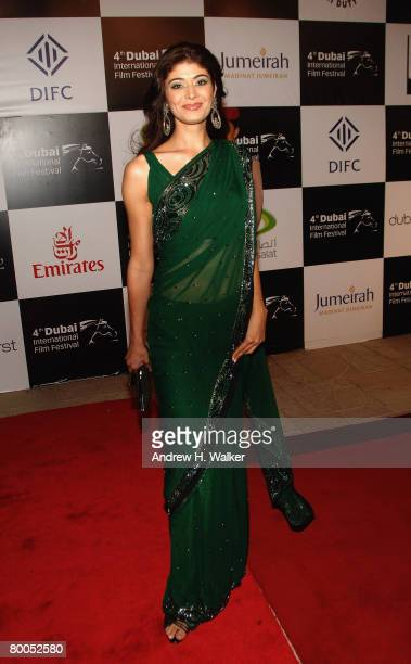 Actress Pooja Bedi attends the opening night gala and the premiere of the movie 'Michael Clayton' during day one of the 4th Dubai International Film...