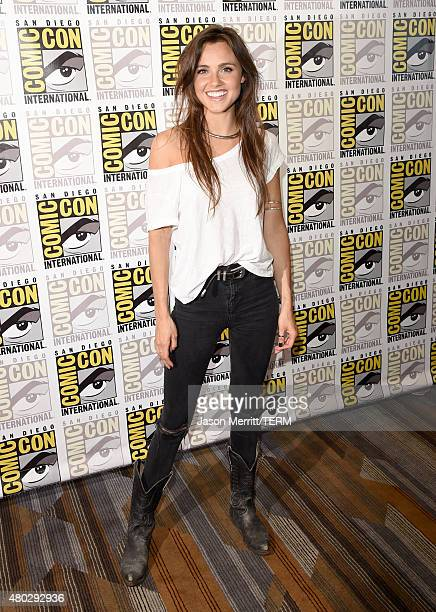 Actress Poppy Drayton attends the The Shannara Chronicles press room during ComicCon International 2015 at the Hilton Bayfront on July 10 2015 in San...