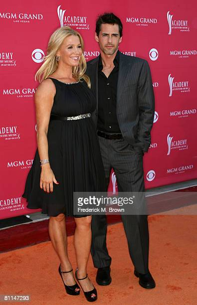 Actress Poppy Montgomery and actor Adam Kaufman arrive at the 43rd annual Academy Of Country Music Awards held at the MGM Grand Garden Arena on May...