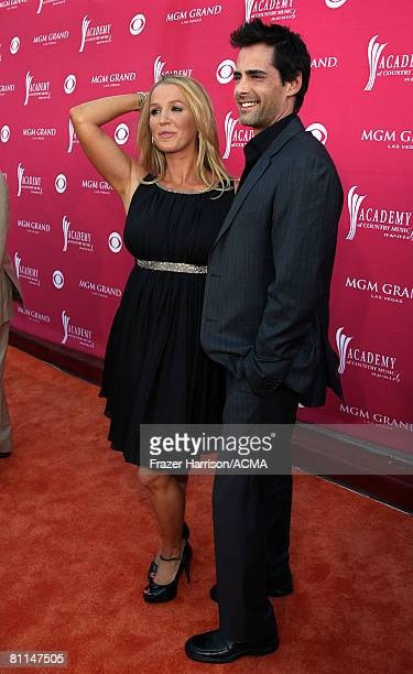 ACCESS*** Actress Poppy Montgomery and actor Adam Kaufman arrive at the 43rd annual Academy Of Country Music Awards held at the MGM Grand Garden...