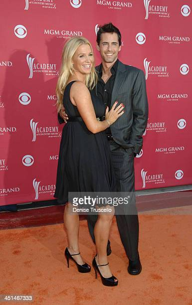 Actress Poppy Montgomery and Adam Kaufman arrive at the 43rd annual Academy Of Country Music Awards held at the MGM Grand Garden Arena on May 18 2008...