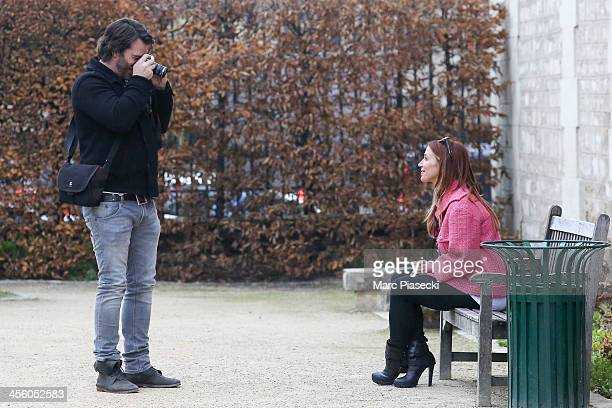 Actress Poppy Montgomery and boyfriend Shawn Sanford are seen on December 13 2013 in Paris France