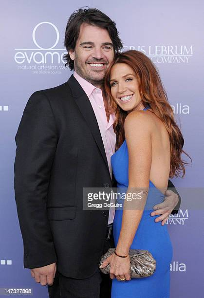 Actress Poppy Montgomery and Shawn Sanford arrive at the 8th Annual Australians In Film Breakthrough Awards at InterContinental Hotel on June 27 2012...
