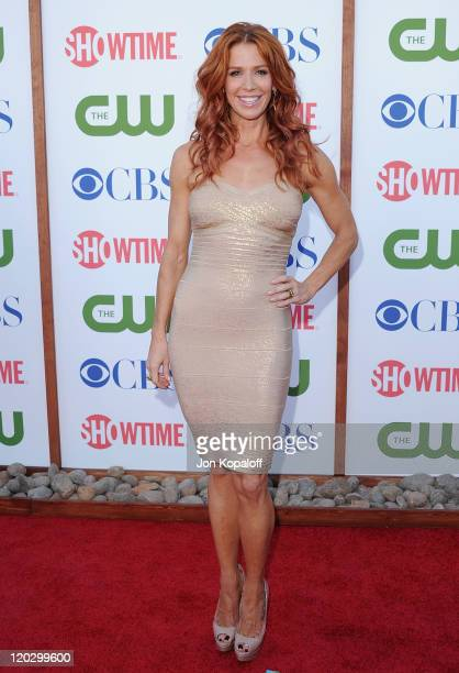 Actress Poppy Montgomery arrives at the 2011 TCA Summer Press Tour CBS The CW Showtime at The Pagoda on August 3 2011 in Beverly Hills California