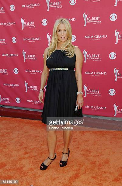 Actress Poppy Montgomery arrives at the 43rd annual Academy Of Country Music Awards held at the MGM Grand Garden Arena on May 18 2008 in Las Vegas...