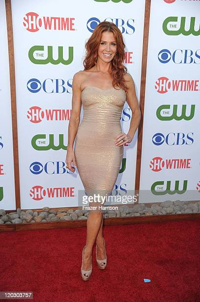 Actress Poppy Montgomery arrives at the TCA Party for CBS The CW and Showtime held at The Pagoda on August 3 2011 in Beverly Hills California