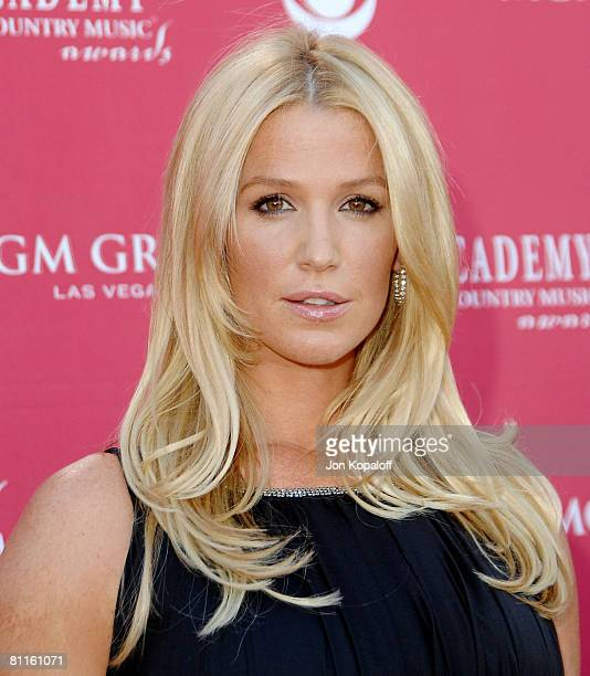 Actress Poppy Montgomery attends the 43rd Academy of Country Music Awards at The MGM Grand Garden Arena on May 18 2008 in Las Vegas Nevada