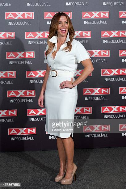 Actress Poppy Montgomery attends the Unforgettable photocall at the AC Retitro Hotel on December 17 2013 in Madrid Spain