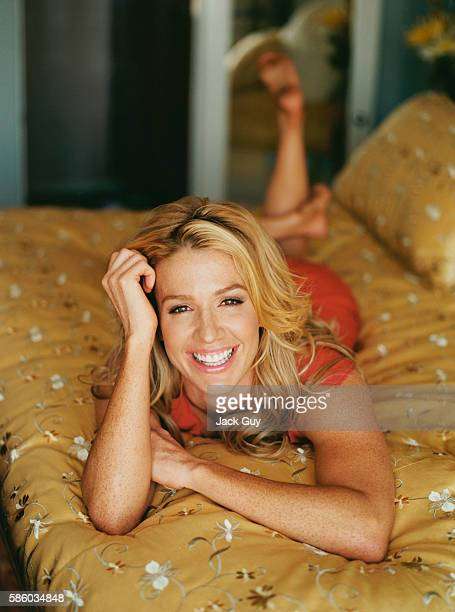 Actress Poppy Montgomery is photographed at home in 2004 in Los Angeles California PUBLISHED IMAGE