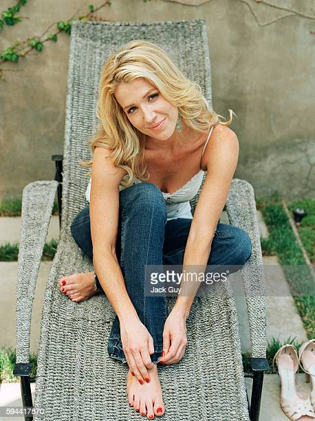 Actress Poppy Montgomery is photographed at home in 2004 in Los Angeles California