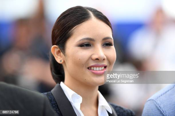 Actress Pornchanok Mabklang attends the A Prayer Before Dawn photocall during the 70th annual Cannes Film Festival at Palais des Festivals on May 19...