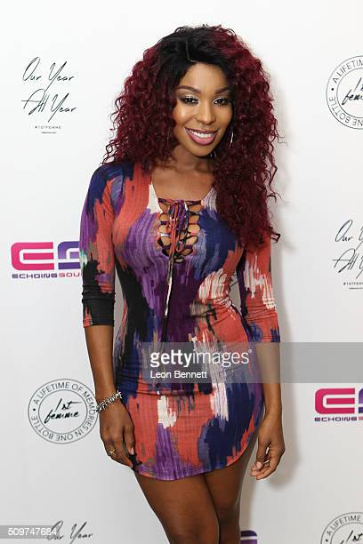 Actress Porscha Coleman attended the La'Myia Good Hosts 1st Femme Fragrance Launch on February 11 2016 in Hollywood California