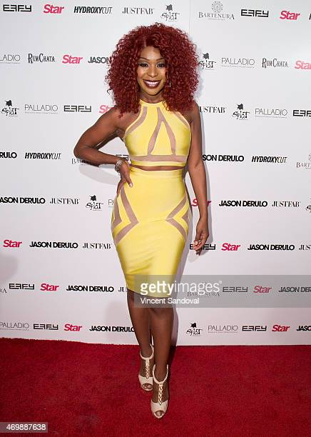 """Actress Porscha Coleman attends Hollywood Rocks! Presents Jason Derulo listening party for """"Everything Is 4"""" at The Argyle on April 15, 2015 in..."""