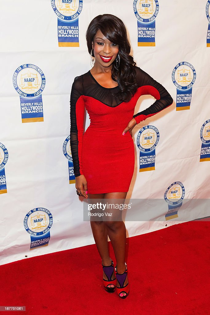 Actress Porscha Coleman attends the 23rd Annual NAACP Theatre Awards at Saban Theatre on November 11, 2013 in Beverly Hills, California.