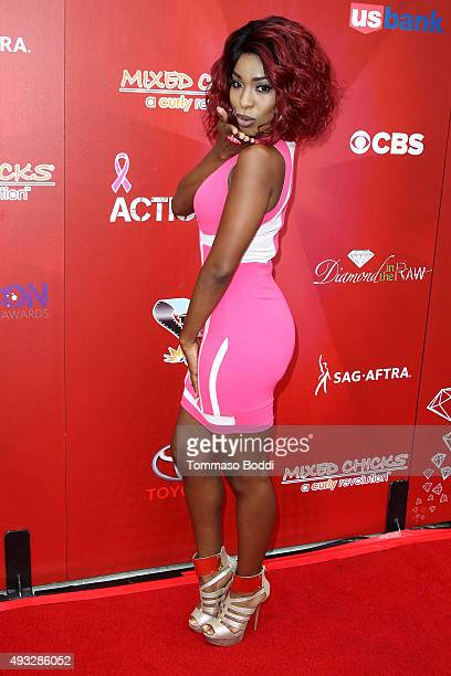 Actress Porscha Coleman attends the 8th Annual Action Icon Awards held at the Sheraton Universal on October 18 2015 in Universal City California