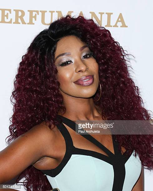 Actress Porscha Coleman attends the OK Magazine's annual pre GRAMMY party at Lure on February 12 2016 in Hollywood California