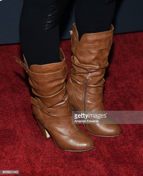 """Actress Porscha Coleman, shoe detail, arrives at the premiere of Novus Content's """"Til Death Do Us Part"""" at The Grove on September 25, 2017 in Los..."""