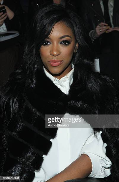 Actress Porsha Stewart attends the Vivienne Tam fashion show during MercedesBenz Fashion Week Fall 2015 at The Theatre at Lincoln Center on February...