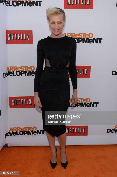 Actress Portia de Rossi arrives at the Los Angeles Premiere of Season 4 of Netflix's 'Arrested Development' at the TCL Chinese Theatre on April 29...