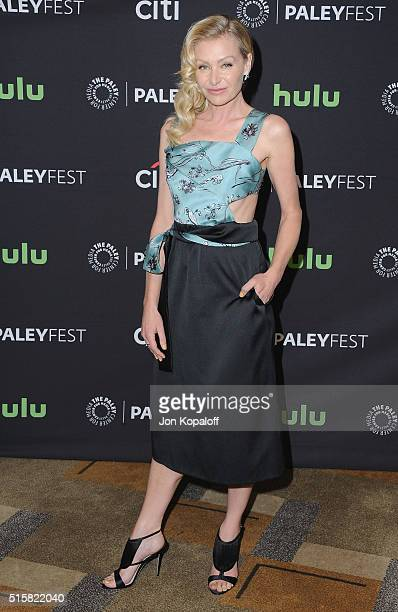 Actress Portia de Rossi arrives at The Paley Center For Media's 33rd Annual PaleyFest Los Angeles 'Scandal' at Dolby Theatre on March 15 2016 in...