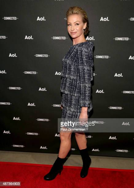 Actress Portia de Rossi attends the 2014 AOL NewFront at the Duggal Greenhouse on April 29, 2014 in the Brooklyn borough of New York City.