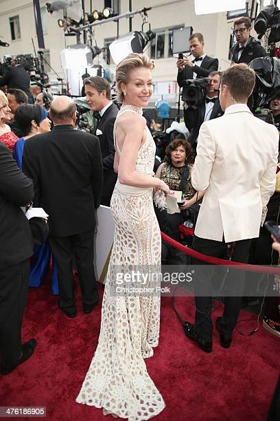 Actress Portia de Rossi attends the Oscars at Hollywood Highland Center on March 2 2014 in Hollywood California