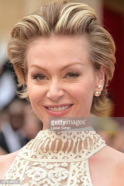 Actress Portia de Rossi attends the Oscars held at Hollywood Highland Center on March 2 2014 in Hollywood California