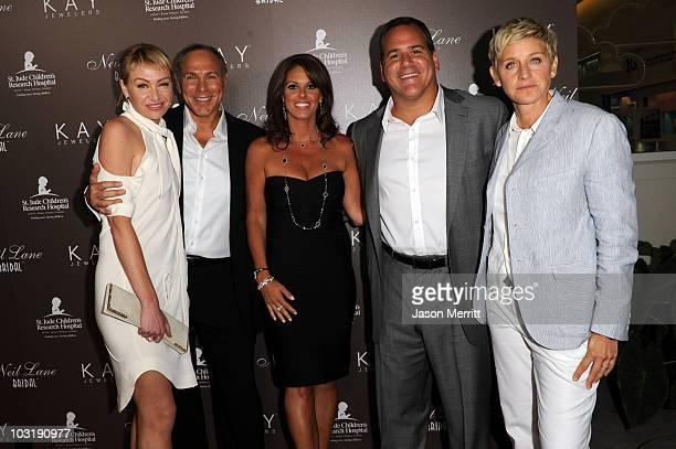 4f2ccbfca Actress Portia de Rossi jewelry designer Neil Lane Andie Light CEO Kay  Jewelers Mark Light and