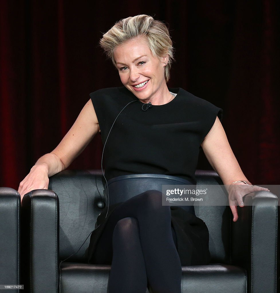 Actress Portia de Rossi of the television show 'Arrested Development' speaks during The Netflix Network portion of the 2013 Winter Television Critics Association Press Tour at the Langham Hotel and Spa on January 9, 2013 in Pasadena, California.