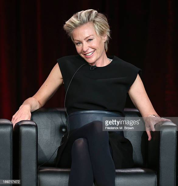 Actress Portia de Rossi of the television show Arrested Development speaks during The Netflix Network portion of the 2013 Winter Television Critics...
