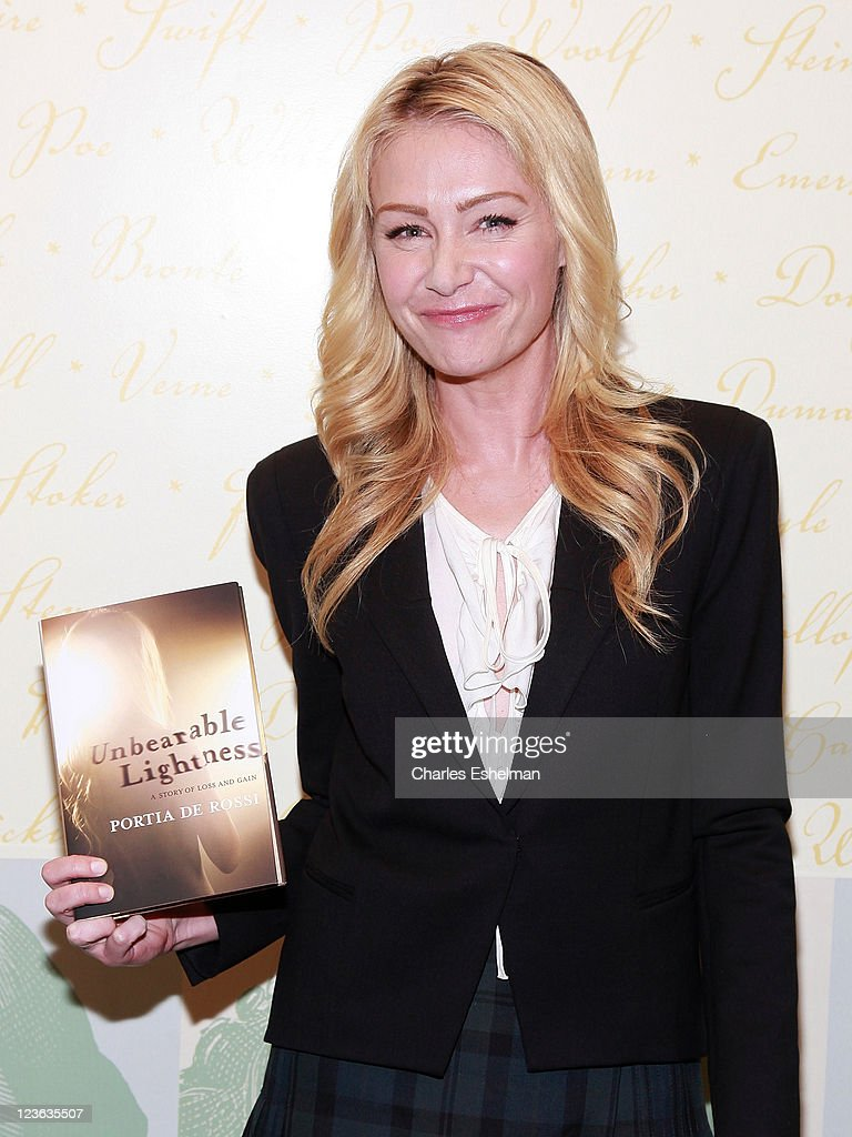 Actress Portia De Rossi Promotes Her New Book U0027Unbearable Lightnessu0027 At  Barnes U0026 Noble