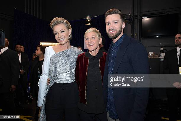 Actress Portia de Rossi TV personality/actress Ellen DeGeneres winner of the awards for Favorite Animated Movie Voice for 'Finding Dory' as Dory...