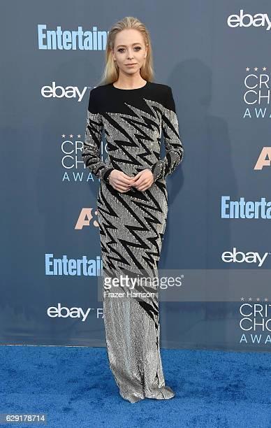 Actress Portia Doubleday attends The 22nd Annual Critics' Choice Awards at Barker Hangar on December 11 2016 in Santa Monica California