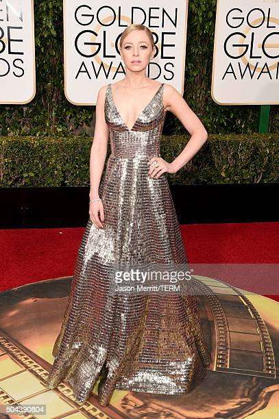 Actress Portia Doubleday attends the 73rd Annual Golden Globe Awards held at the Beverly Hilton Hotel on January 10 2016 in Beverly Hills California
