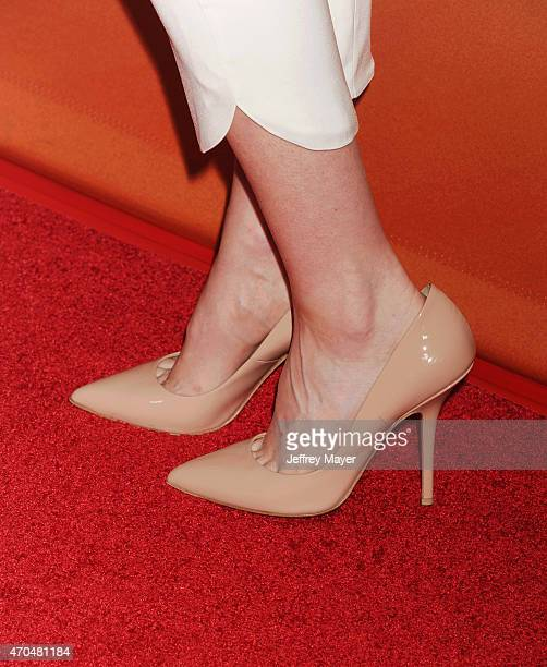 Actress Portia Doubleday, shoe detail, at the 2015 NBCUniversal Summer Press Day held at the The Langham Huntington Hotel and Spa on April 02, 2015...