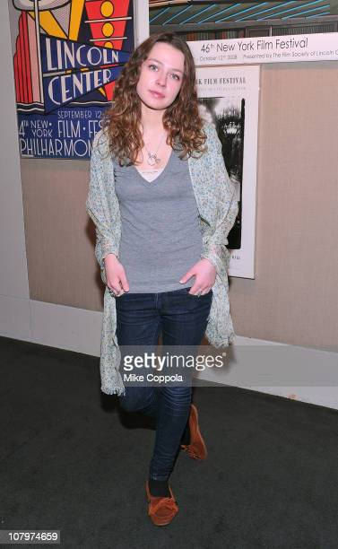 Actress Portia Reiners attends a sneak preview of Twelve Thirty presented by the Film Society of Lincoln Center at Walter Reade Theater on January 10...
