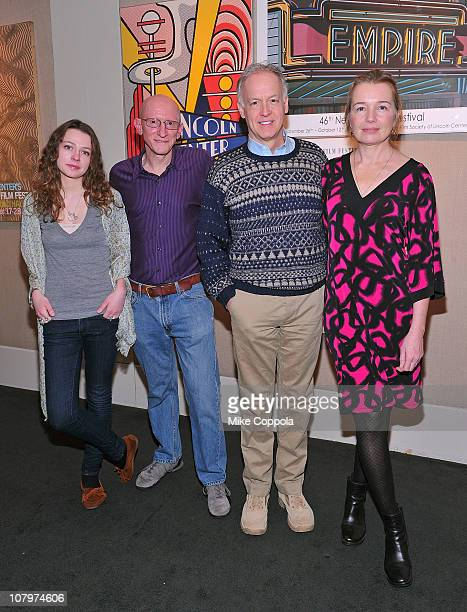 Actress Portia Reiners director/writer Jeff Lipsky actor Reed Birney and actress Karen Young attend a sneak preview of Twelve Thirty presented by the...