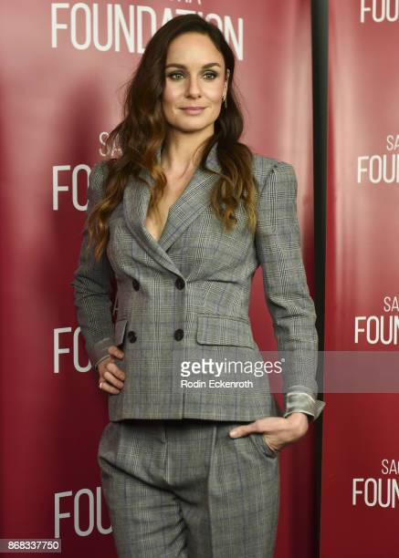 Actress poses for portrait at SAGAFTRA Foundation Conversations screening of 'The Long Road Home' at SAGAFTRA Foundation Screening Room on October 30...