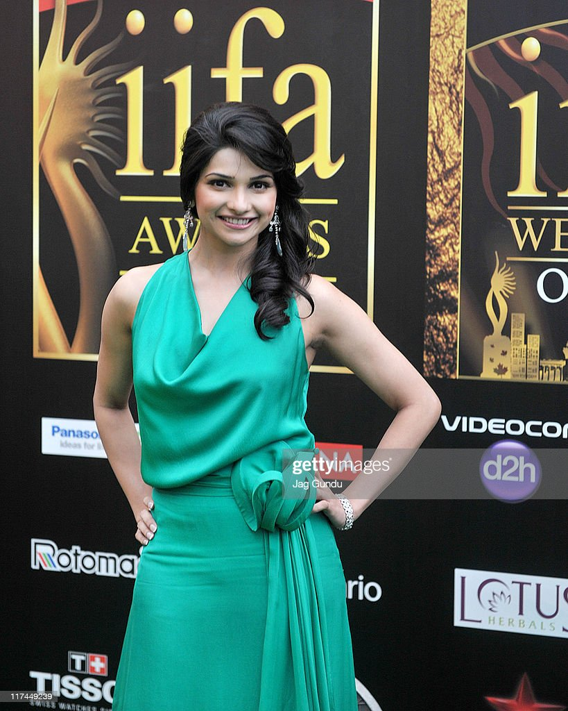 Actress Prachi Desai attends the IIFA Awards green Carpet at the Rogers Centre on June 25, 2011 in Toronto, Canada.
