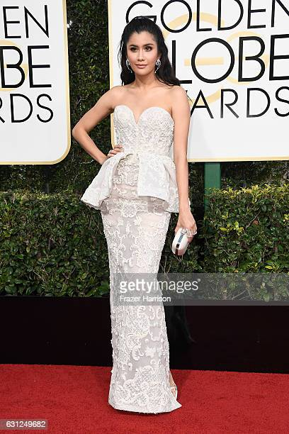 Actress Praya Lundberg attends the 74th Annual Golden Globe Awards at The Beverly Hilton Hotel on January 8 2017 in Beverly Hills California