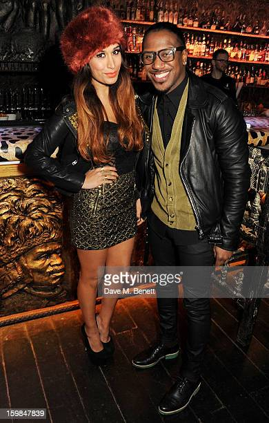 Actress Preeya Kalidas and Official Royston attend Official Royston's birthday party at Shaka Zulu on January 21 2013 in London England
