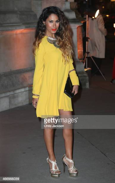 Actress Preeya Kalidas attends the British Asian Trust reception at Victoria Albert Museum on February 5 2014 in London England