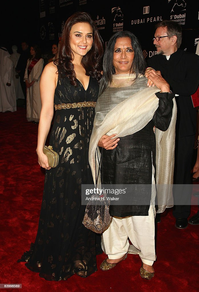 Actress Preity Zinta and director Deepa Mehta attend the Opening Night Gala of The 5th Annual Dubai International Film Festival held at the Madinat...