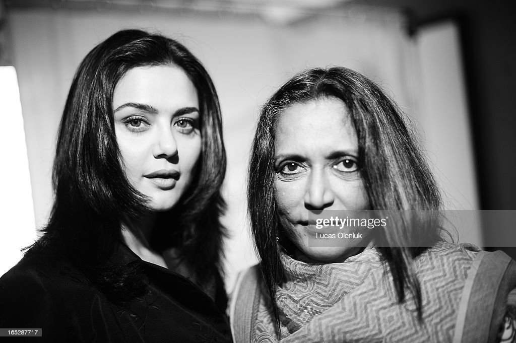 Actress Preity Zinta and director Deepa Mehta photographed in Toronto during the 2008 Toronto International Film Festival Monday September 8th 2008