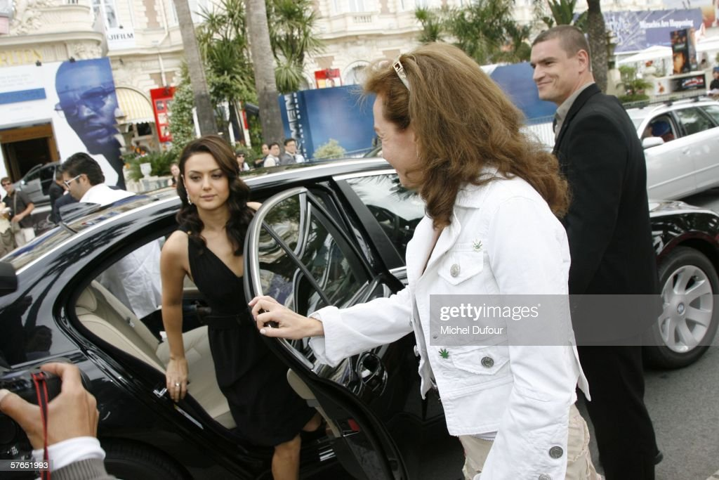 Actress Preity Zinta arrives at a Chopard party at Nikki Beach during the 59th International Cannes Film Festival May 18 2006 in Cannes France